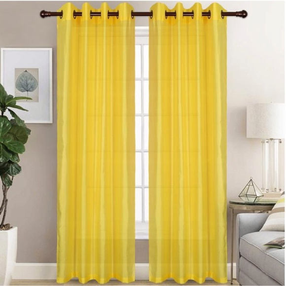 Glory Home Design Other - Christina Faux Silk Grommet-Top Panel_YellowSS